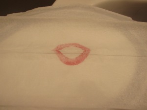 NYC lipstick..  don't forget to blot!  ;)