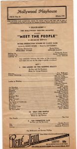 Meet the people playbill front
